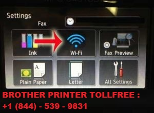 Select Network option Brother Printer