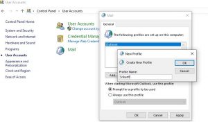 Create A New Outlook User Profile