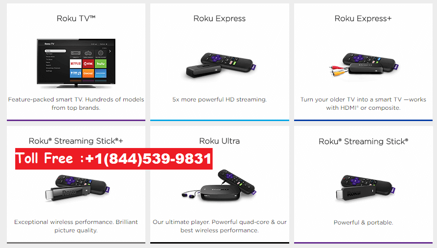 Support for different roku products